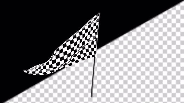 Checkered Flag Waving: Stock Motion Graphics