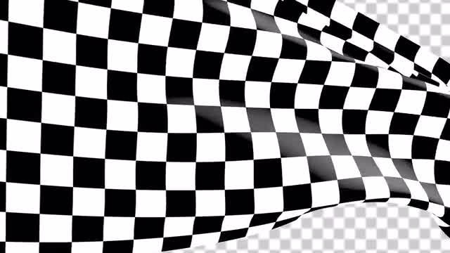 Transparent Close Shot Of A Race Flag: Stock Motion Graphics