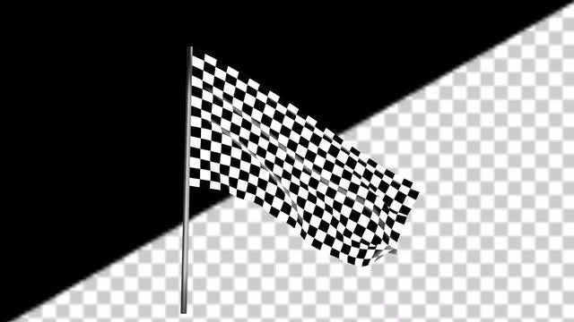 Waving Checkered Race Flag: Stock Motion Graphics