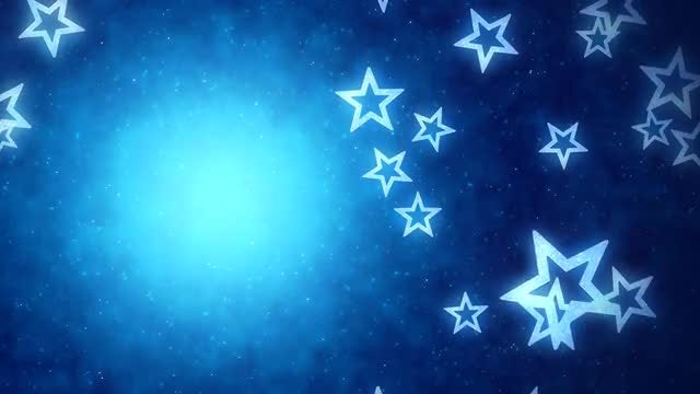 Falling Blue Stars Background: Stock Motion Graphics