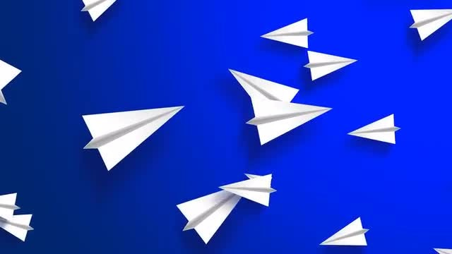 Flying Paper Planes: Stock Motion Graphics