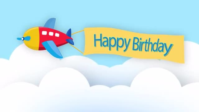 Animated Cartoon Happy Birthday: Stock Motion Graphics