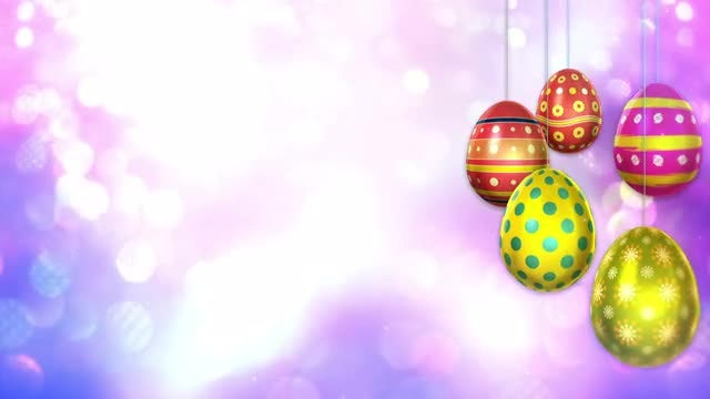 Easter Magic Background: Stock Motion Graphics