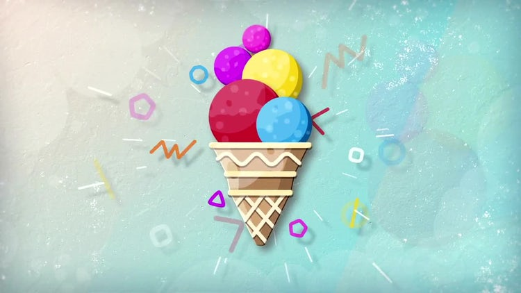 Ice Cream Logo: After Effects Templates