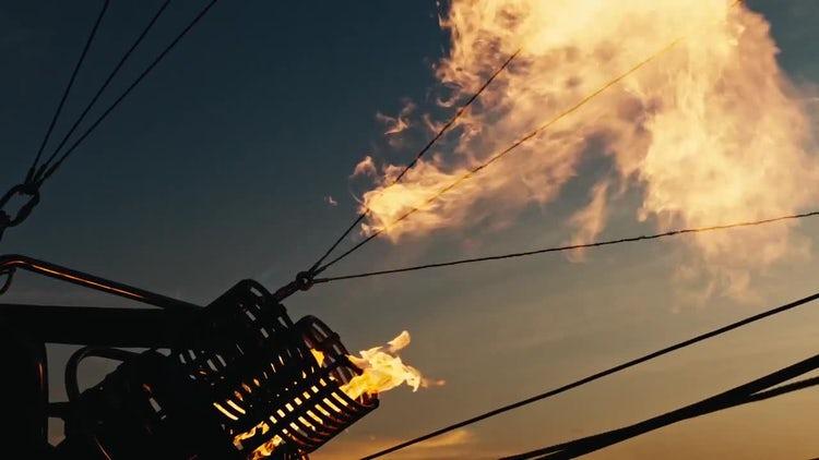 Hot Air Balloon Burners: Stock Video
