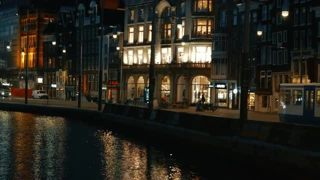 Amsterdam In Early Dawn: Stock Video