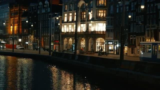 Amsterdam In Early Dawn: Stock Video