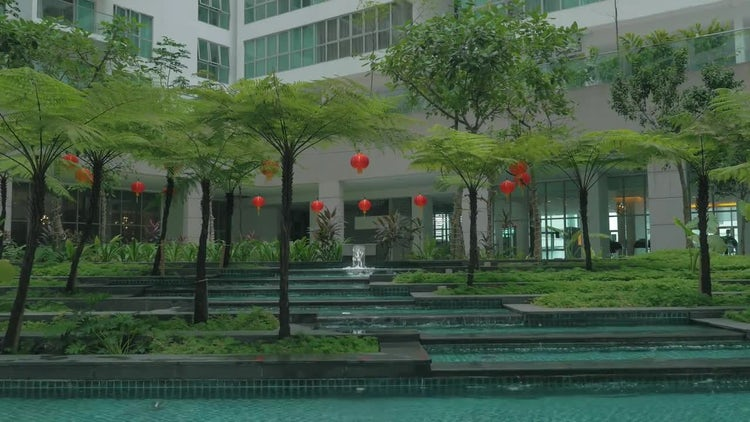 Beautiful Outdoor Water Fountain : Stock Video