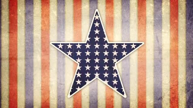 Vintage American Star: Stock Motion Graphics