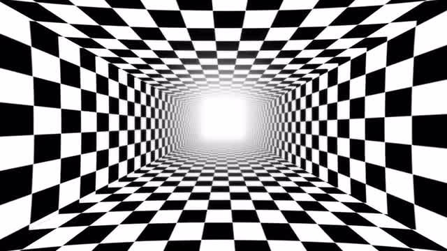 Checkered Tunnel Loop: Stock Motion Graphics