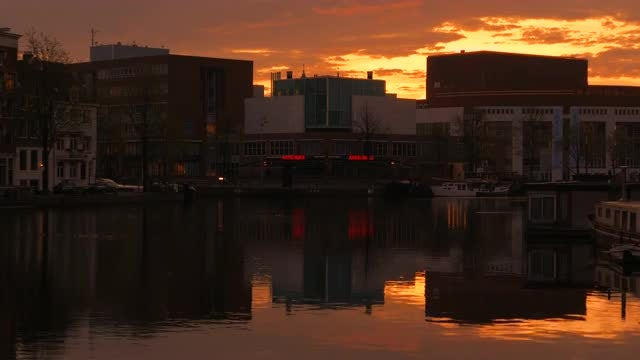 Amsterdam At The Crack of Dawn: Stock Video