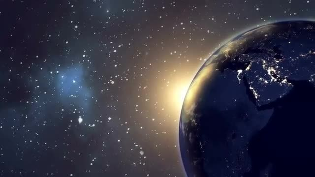 Earth Planet Sun Rise: Stock Motion Graphics