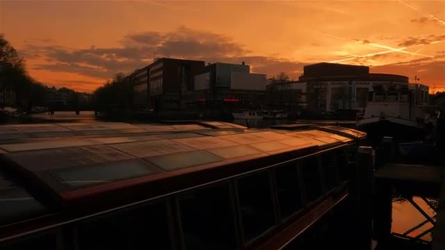 Amsterdam Canals and Boats: Stock Video