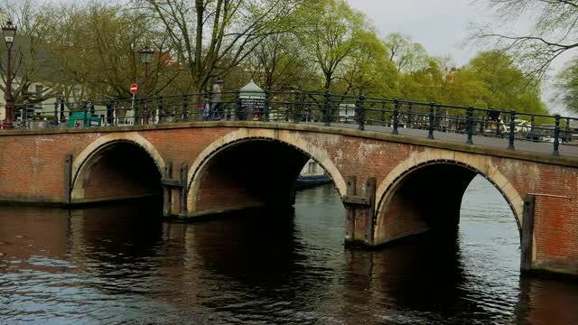 Close Up Shot Of Dutch Canal: Stock Video
