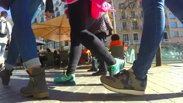 Time Lapse Of Runners Post-Race: Stock Video