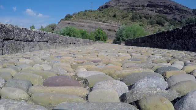 Ancient Roman Stone Bridge : Stock Video