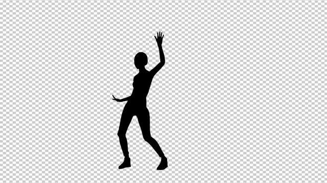 Girl Dancing Samba: Stock Motion Graphics