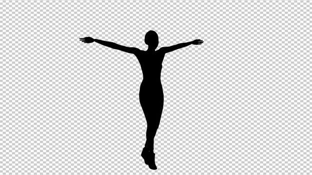 Female Silhouette Belly Dancing: Stock Motion Graphics