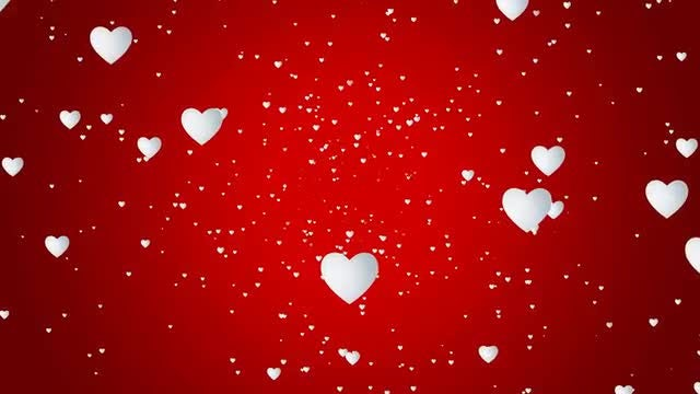 White Hearts Background: Stock Motion Graphics