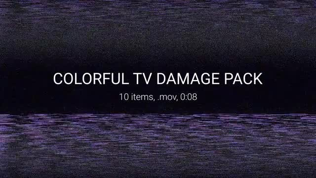 Colorful TV Damage Pack: Stock Motion Graphics