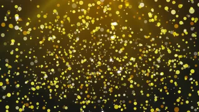 Golden Particles Falling Awarding Background: Stock Motion Graphics