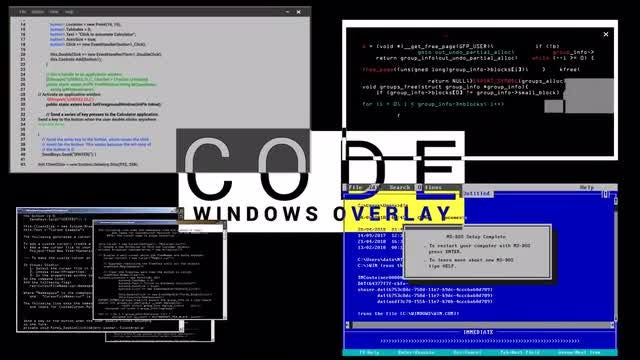 Code Windows Overlay: Stock Motion Graphics