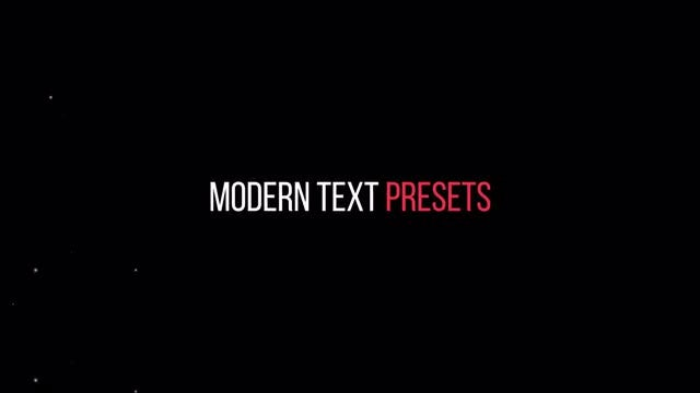 Modern Text Presets: After Effects Presets