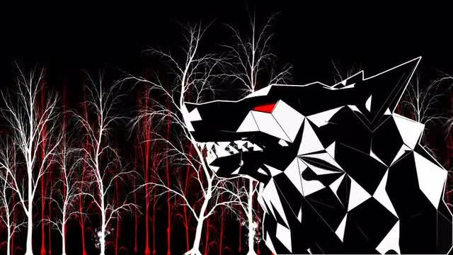 Low Poly Wolf VJ Loop: Stock Motion Graphics