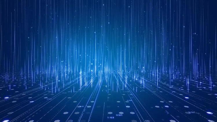 Hi-Tech Data Background: Stock Motion Graphics