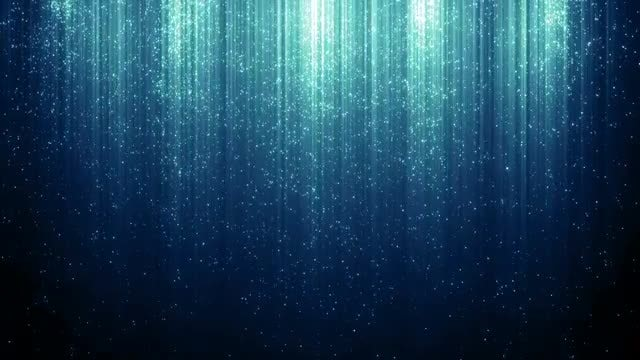 Blue Glittery Rain : Stock Motion Graphics