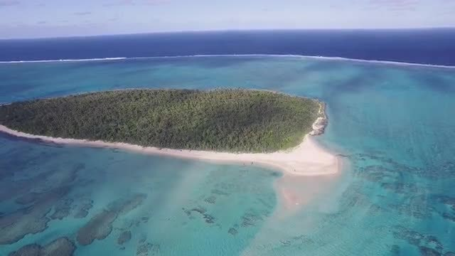 Aerial Shot Of Tropical Island: Stock Video
