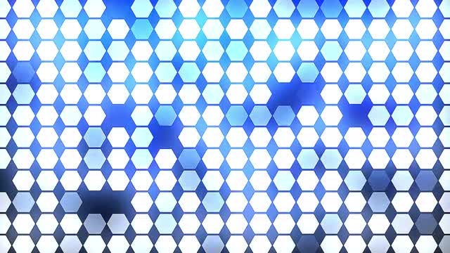 Shimmering Polygons Blue Background Loop: Stock Motion Graphics