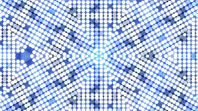 Shimmering White And Blue Kaleidoscope: Stock Motion Graphics