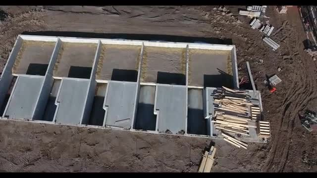 Aerial View Of Construction Site : Stock Video