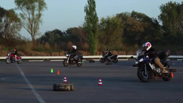 Motorcycle Driving Lessons : Stock Video