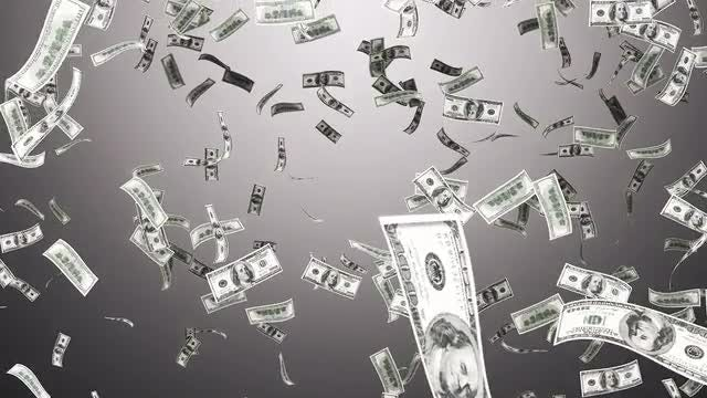 Falling Hundred Dollar Bills: Stock Motion Graphics
