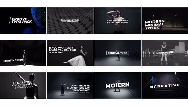 Minimal Art Titles: Motion Graphics Templates