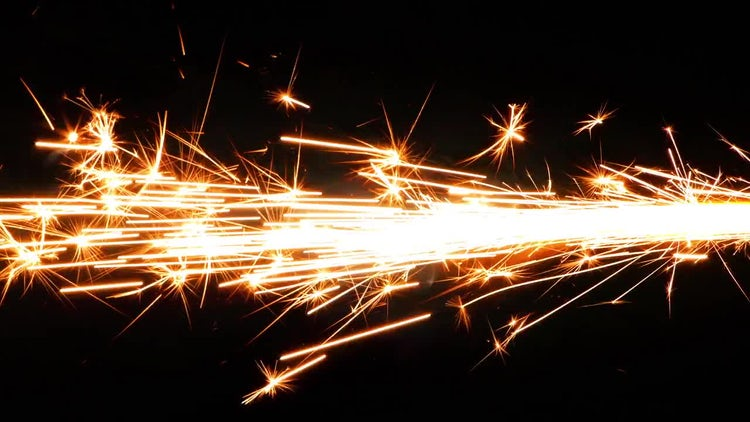Sparks from Firework 1: Stock Video