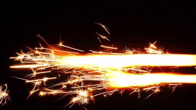 Sparks from Firework 2: Stock Video