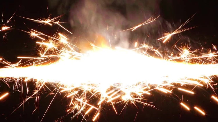 Sparks from Firework 3: Stock Video