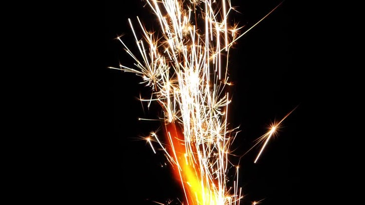 Sparks From Firework 4: Stock Video