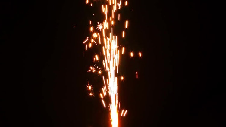 Sparks from Firework 5: Stock Video