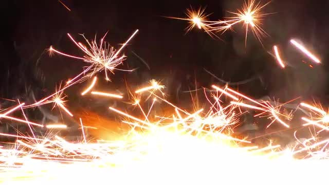 Sparks From Fireworks 6: Stock Video