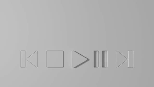 Music Player: Stock Motion Graphics
