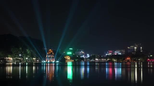 Hoan Kiem Lake In Hanoi: Stock Video