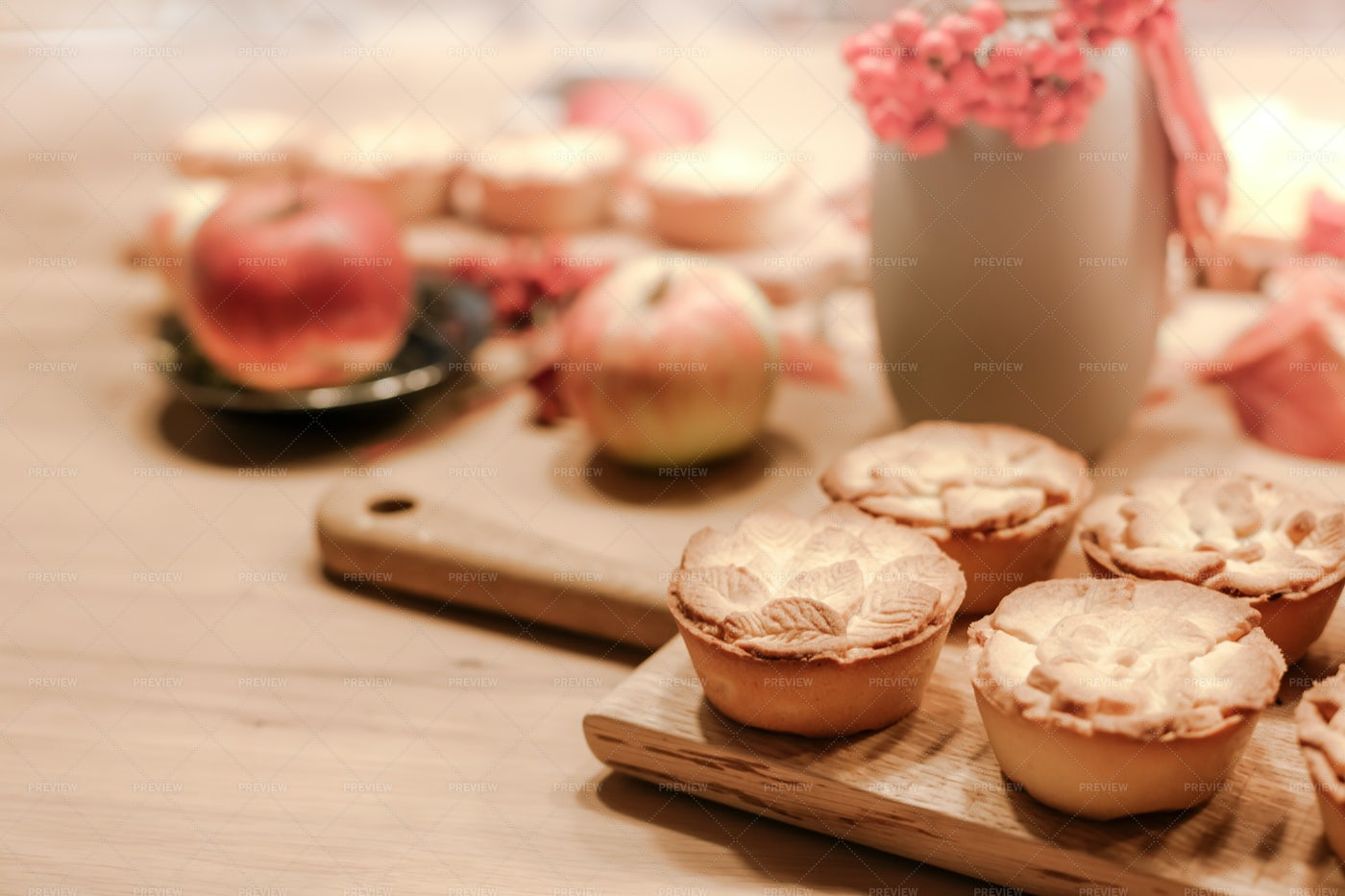 Traditional Homemade Apple Pies: Stock Photos