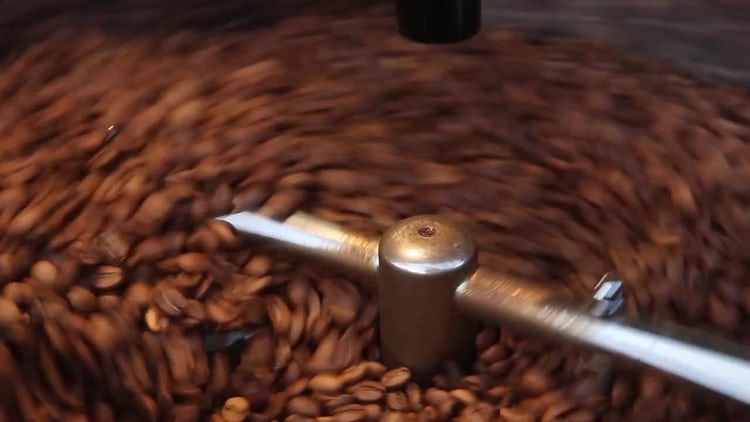 Coffee Beans Roasting Machine: Stock Video