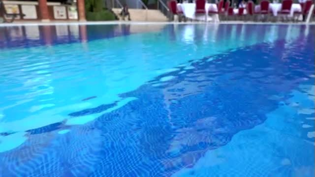 Big Swimming Pool With Ripples: Stock Video