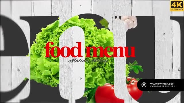 Food Menu 4K: After Effects Templates