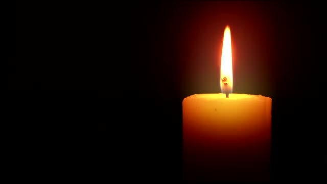 Illuminated Candle Loop: Stock Video